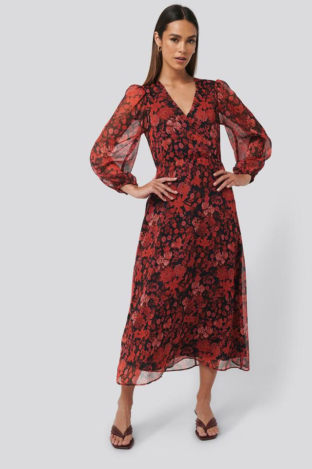 Winona Dress Red