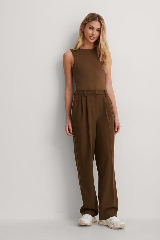 Dark Brown Suit Pants