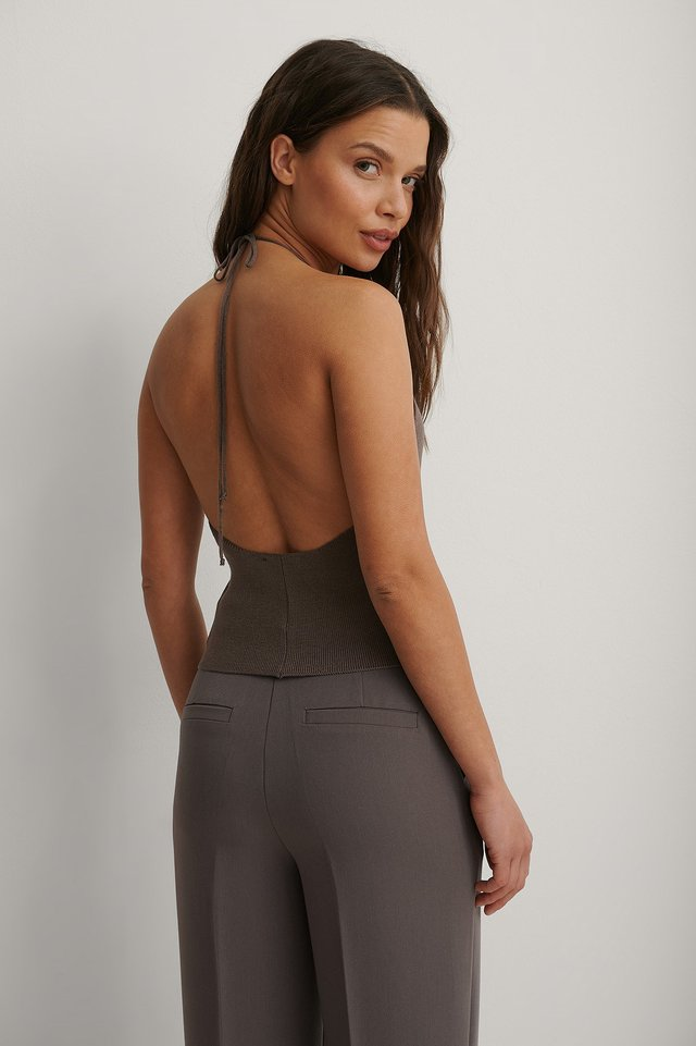 Purple Organic Deep Back Top