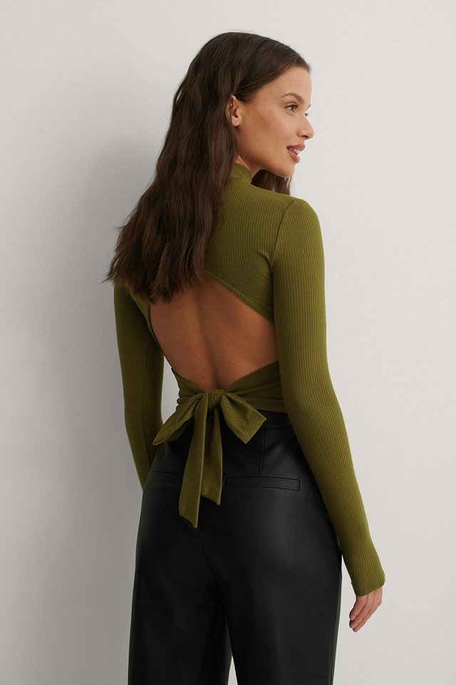 Dark Green Top
