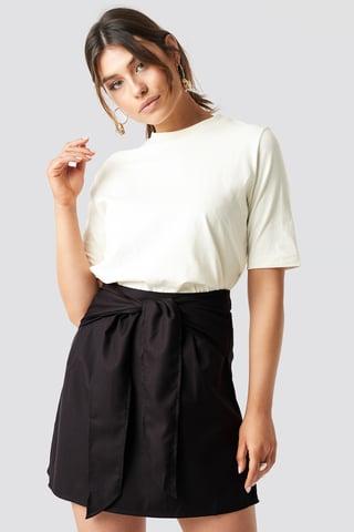 Brown Knot Mini Skirt