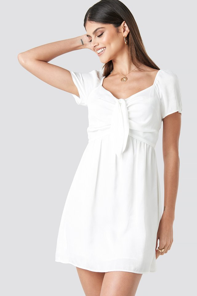Knot Mini Dress Offwhite