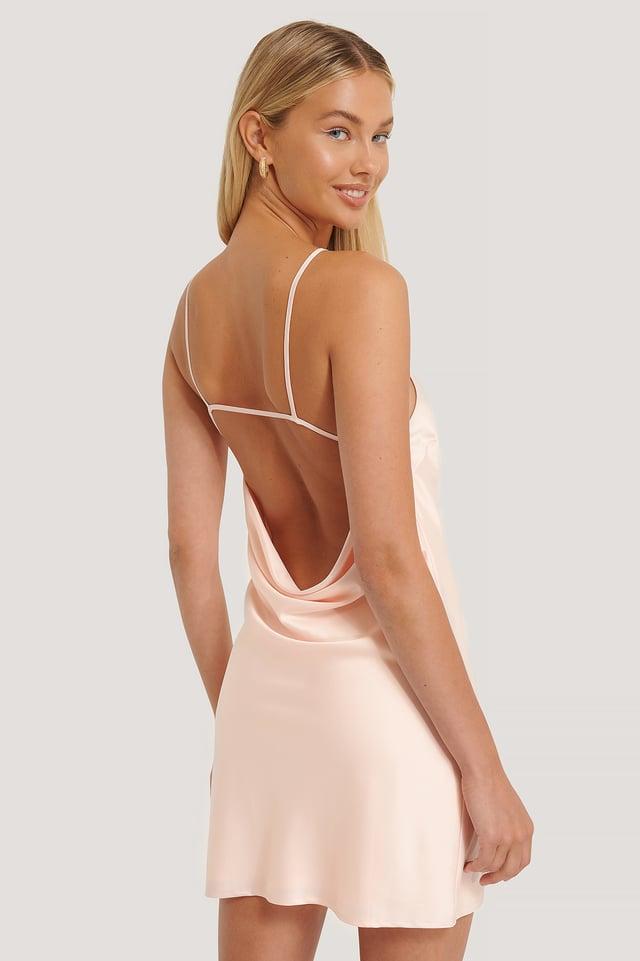 Open Back Mini Dress Pink
