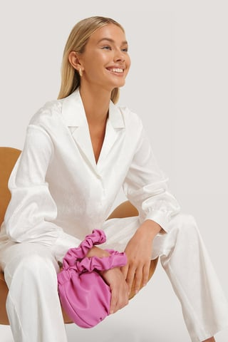 Strong Pink Wrinkle Bag