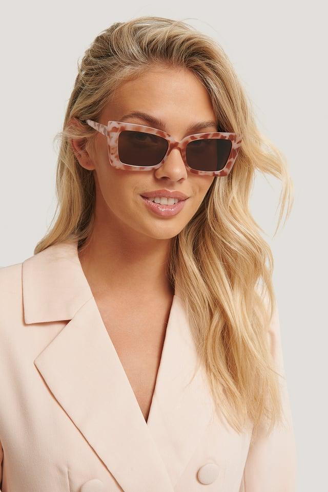 Natural Sharp Trapeze Frame Sunglasses