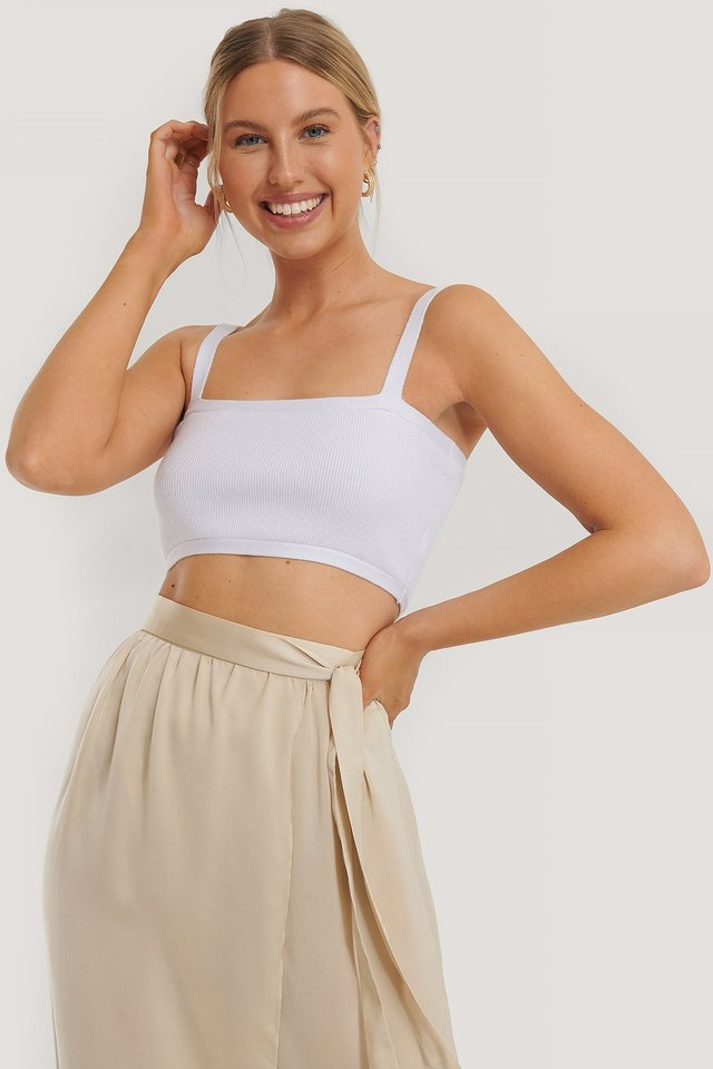 Bandeau Strap Top White