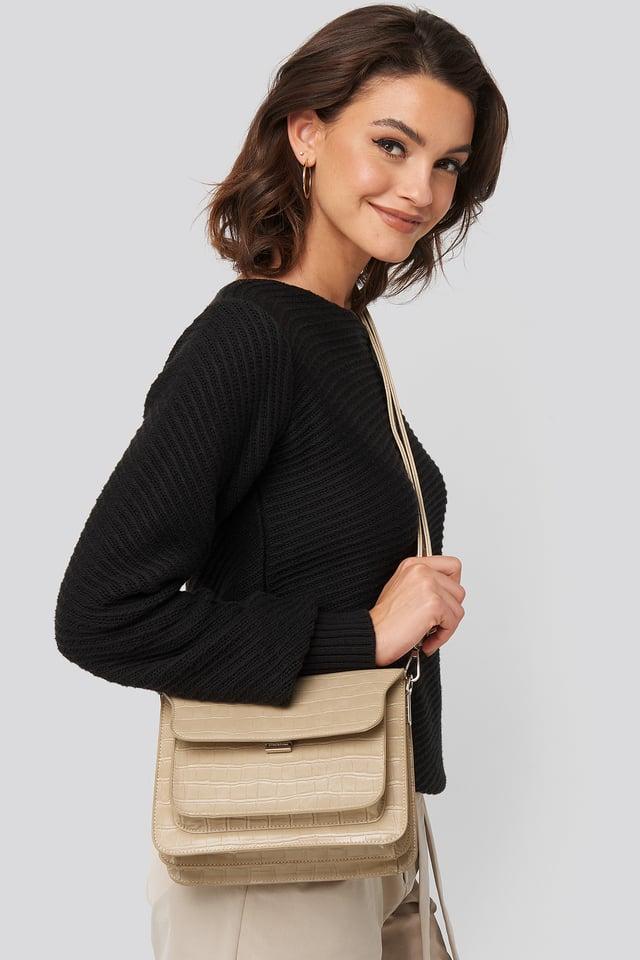 Croc Handbag Beige