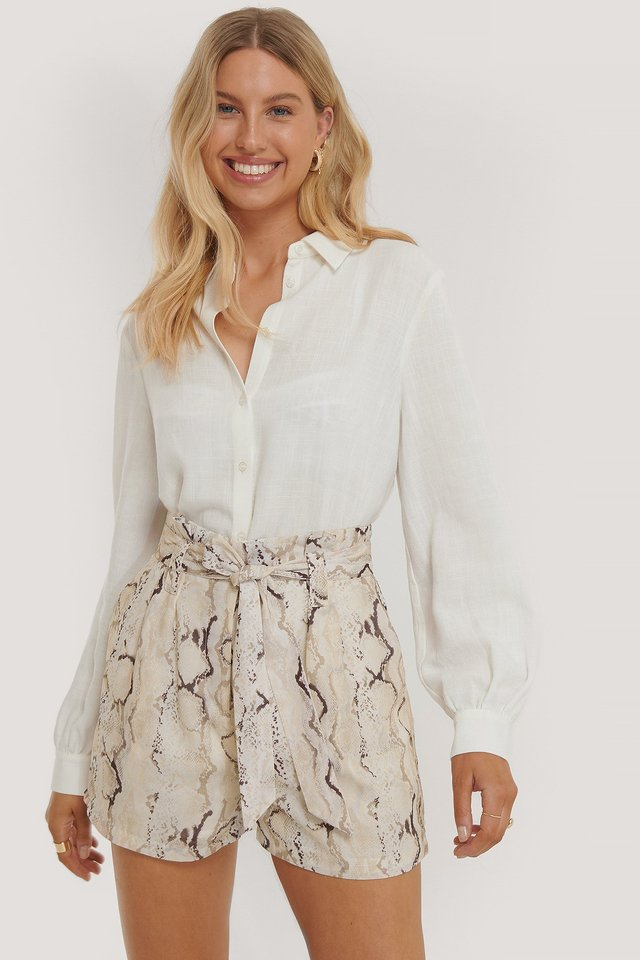 Loose Fit Cotton Shirt Off White