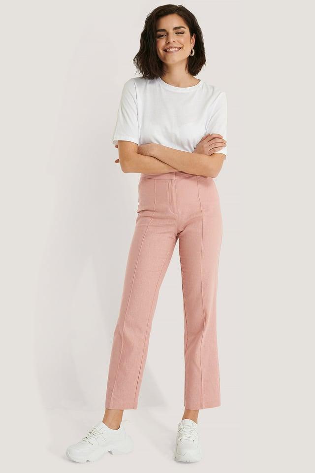 Pellavahousut Light Pink