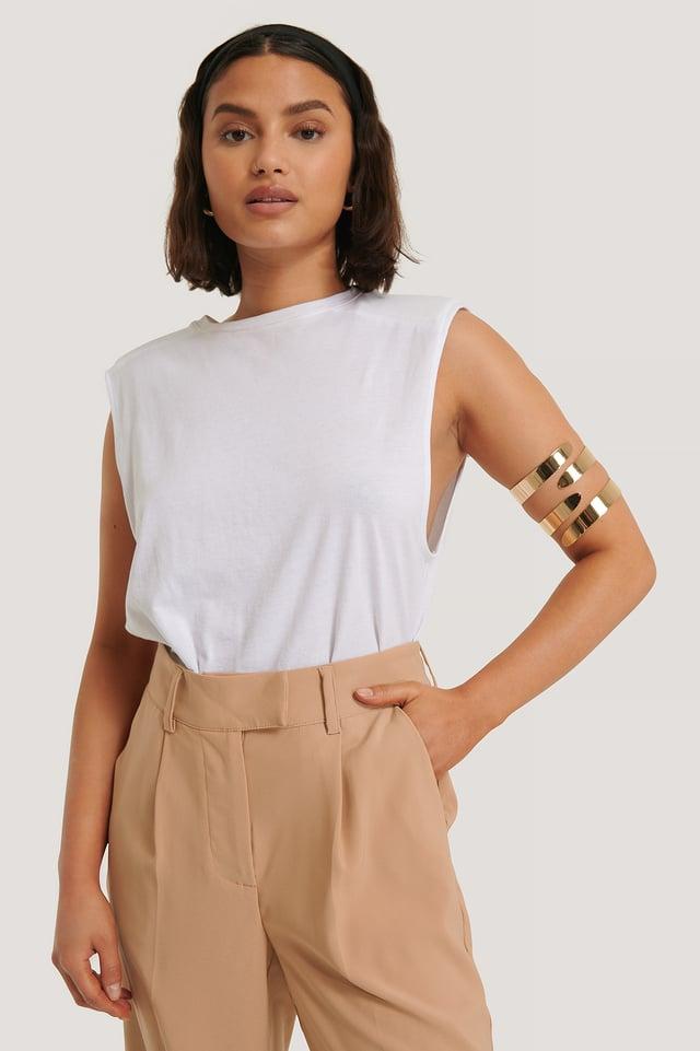 2-Pack Arm Cuffs Gold