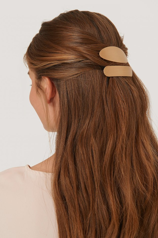 Gold 2-Pack Chunky Hair Clips