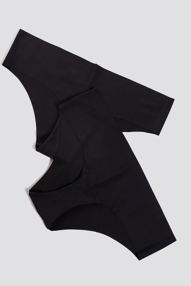 2-pack Seamless Micro Hipster Black