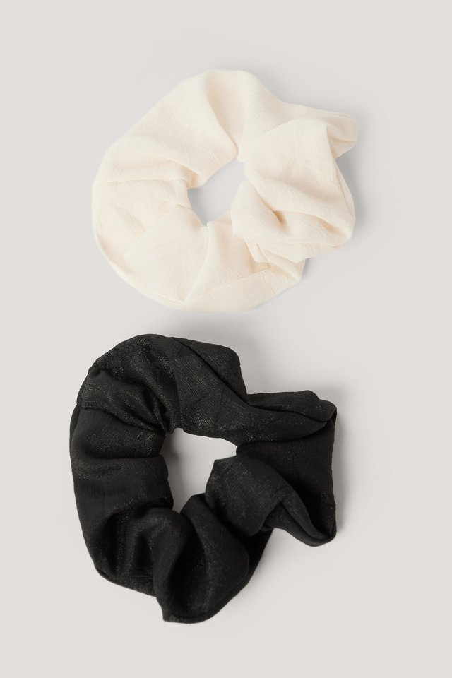 Scrunchies Black/White