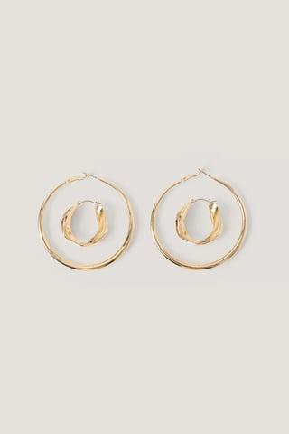Gold Hoops-Örhängen