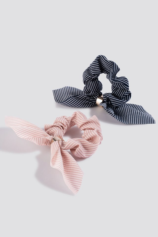 2-pack Bow Scrunchies Pink/Blue