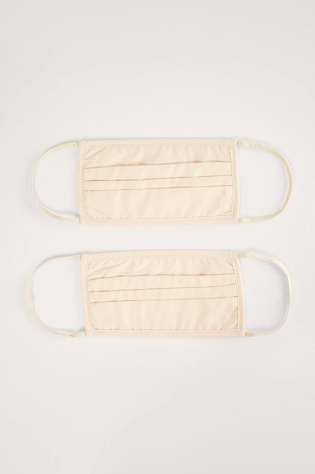Nude 2-Pack Solid Flat Masks