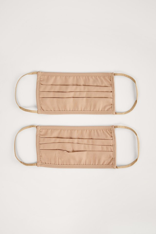 Light Brown 2-Pack Solid Flat Masks