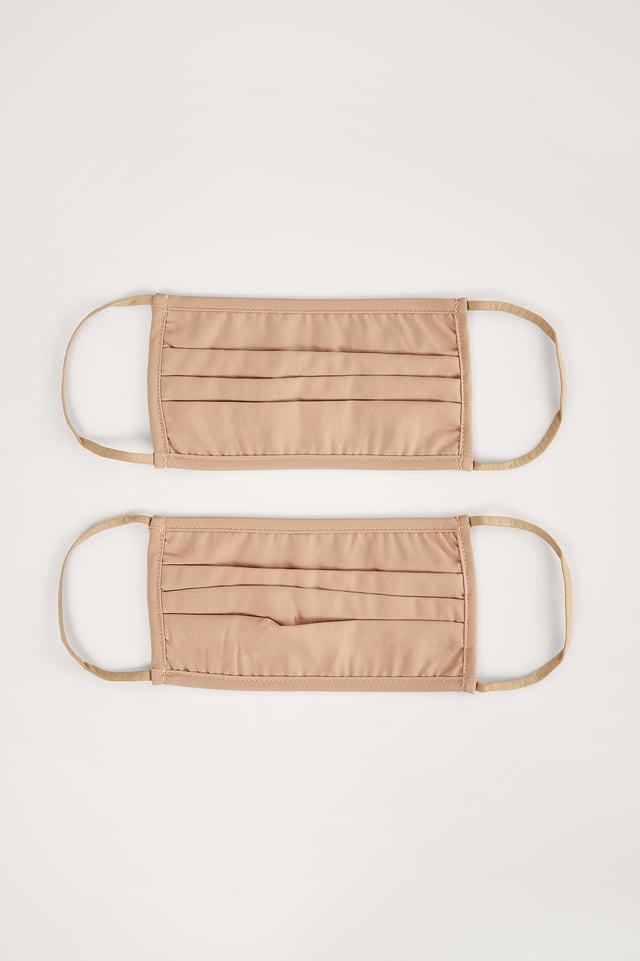 Light Brown 2-Pack Solid FlatMasks