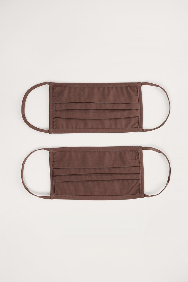 Dark Brown 2-Pack Solid Flat Masks