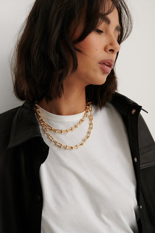 2-Pack Thin Chain Necklace Gold