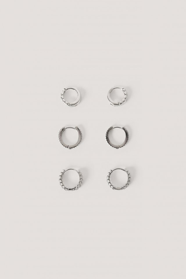 3-Pack Structured Tiny Hoops NA-KD Accessories