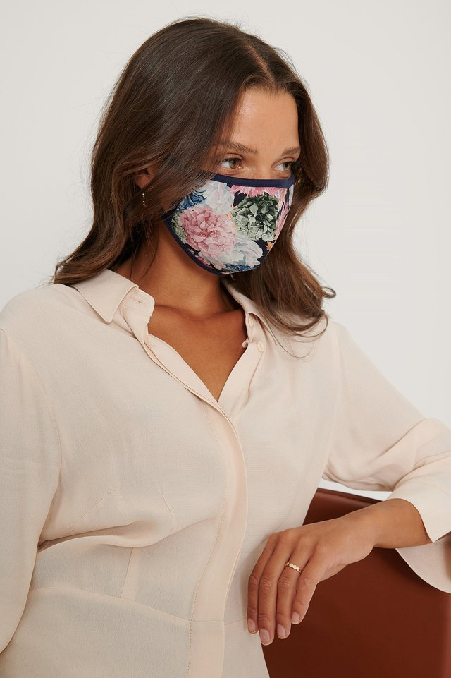Pink/Blue 3-Pack Printed Face Masks