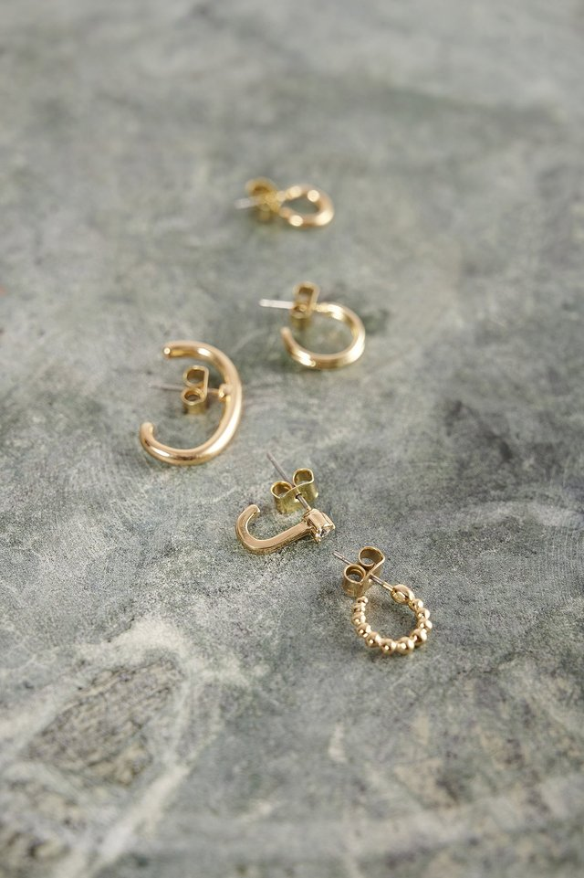 Gold 5-Pack Recycled Cuff Set