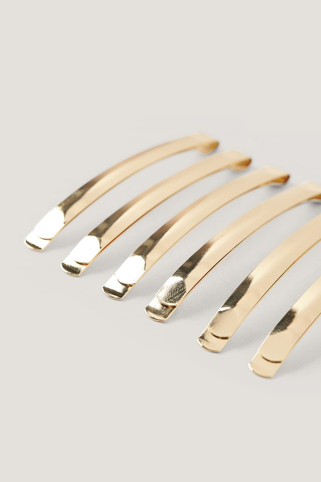 Gold 6-Pack Wide Hairpins