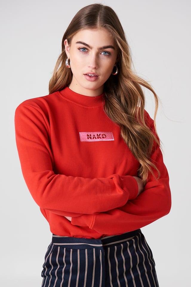 NA-KD Logo Sweater NA-KD