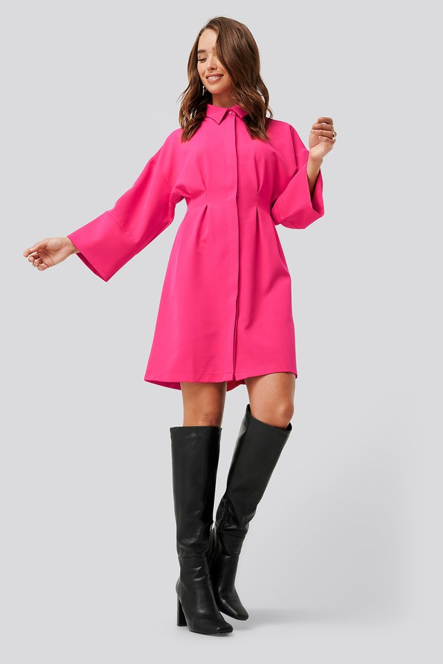 Sukienka Mini Odsłaniająca Ramiona Bright Rose