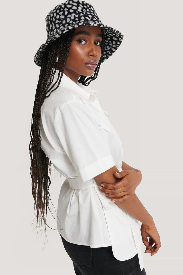 Sombrero Bucket Estampado Animal Black/White