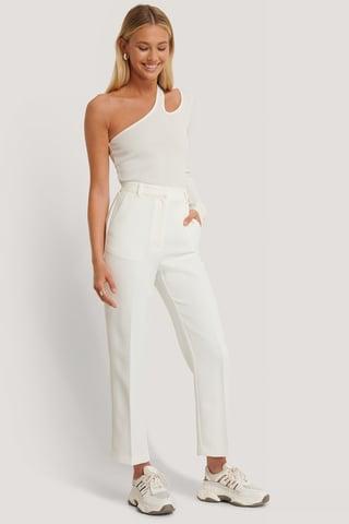 Offwhite Bukser