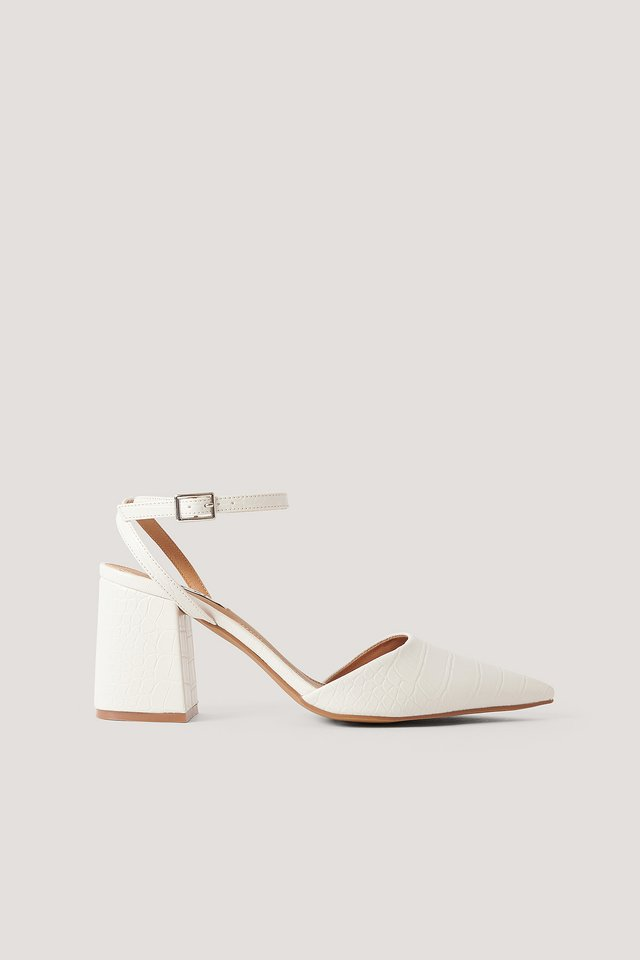 Ankle Strap Pumps Offwhite