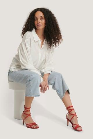 Red Ankle Strap Stiletto heels