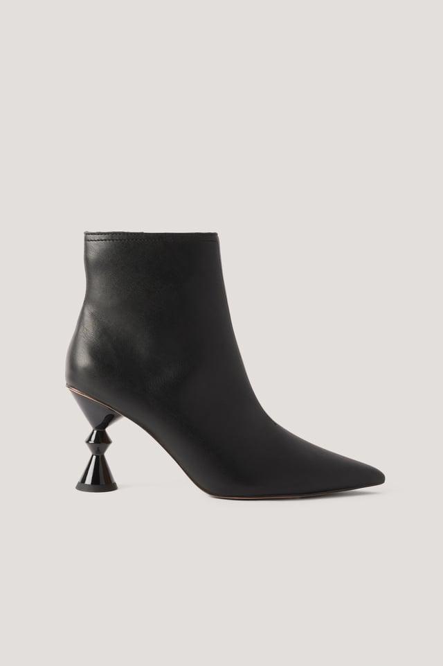 Botines De Tacón Black