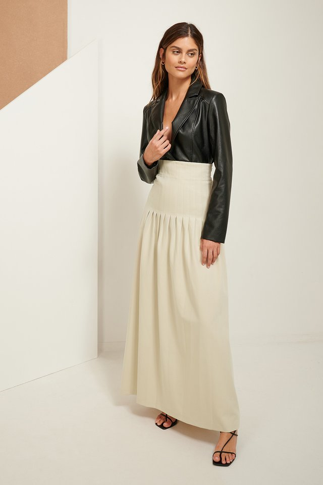 Darted Maxi Skirt Sand