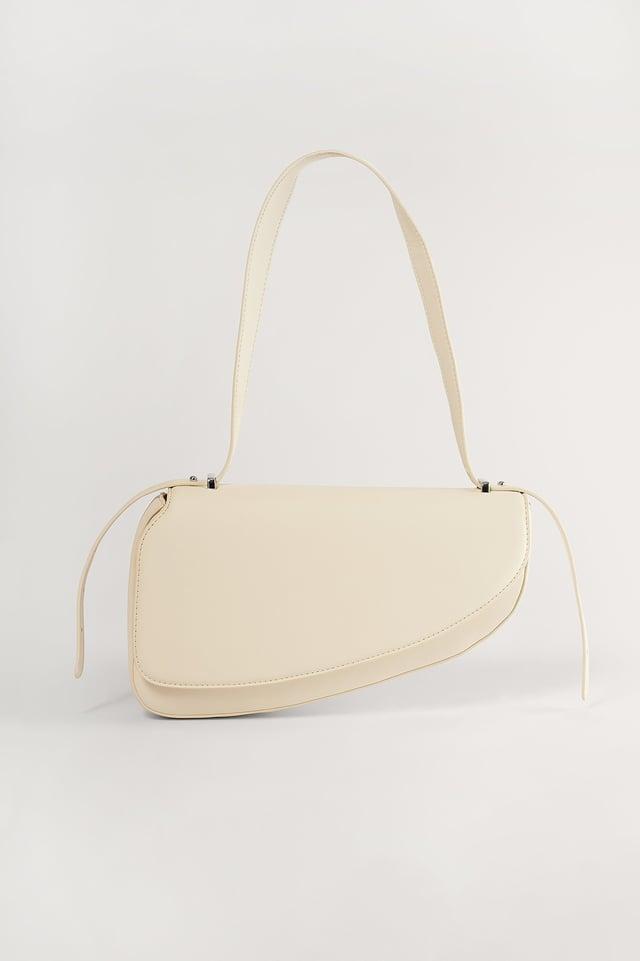 Offwhite Recycled Asymmetric Saddle Bag
