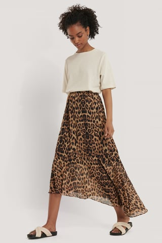 Leo Recycled Asymmetric Chiffon Skirt