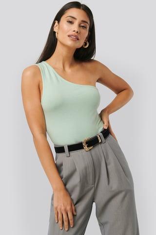 Light Green Asymmetric Jersey Body