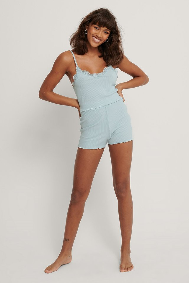 Light Blue Loungeshorts Med Babylock