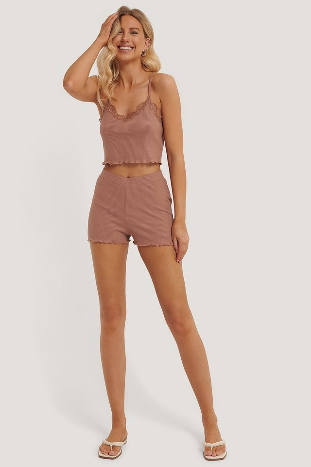 Babylock Lounge Shorts Dusty Dark Pink