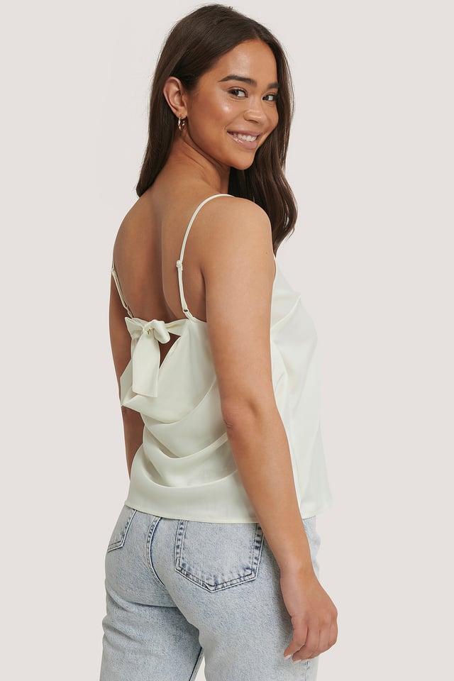 Back Tie Strap Singlet White