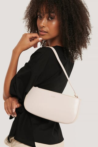 Gloss Offwhite Baguette Bag