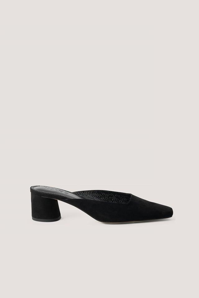 Black Ballerina Mules