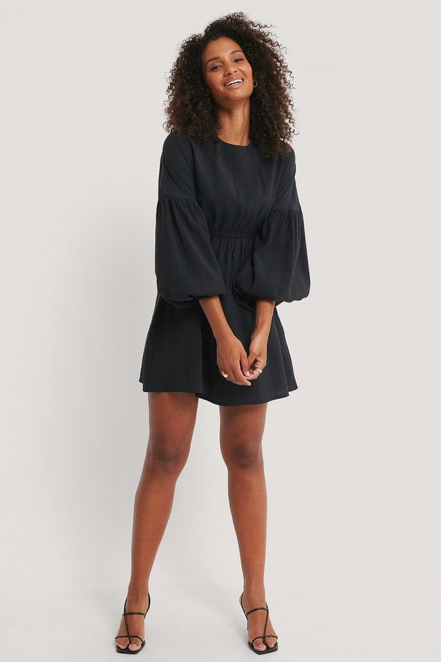 Black Balloon Mini Dress