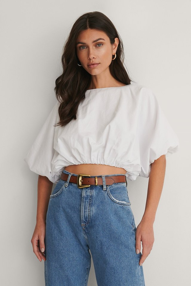 Balloon Volume Blouse White