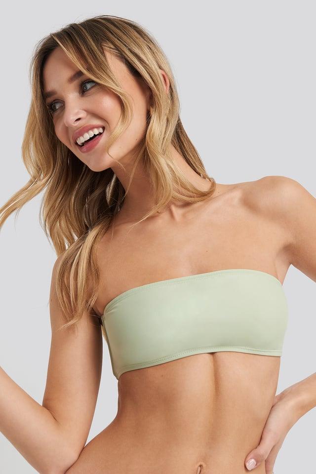 Bandeau Bikini Top Dusty Green