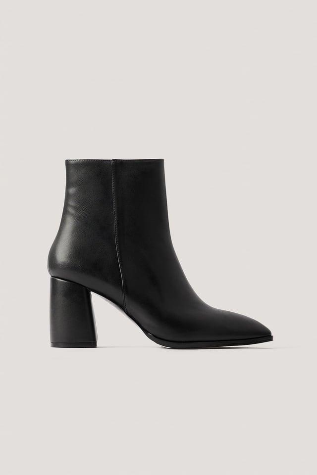 Stiefel Mit Blockabsatz Black