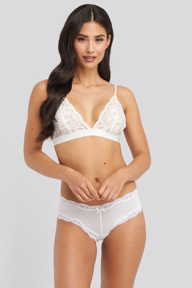 White Basic Brazilian Micro Panty