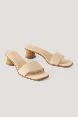 Natural Basic Canvas Mules